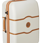 Unique brake system is activated with a single knob and locks the two front wheels of the luggage, preventing the bag from drifting away while allowing travelers to roll the bag on the two back wheels. Silent-running, Japanese hinomoto spinner wheels assure smooth maneuverability