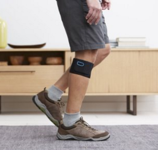 Walking around with the Quell wearable pain relief device installed