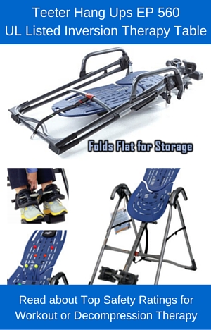 Read about the Teeter Hang Ups EP 560 Inversion Table Review and watch our testing video