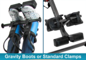 Gravity boot option of the Teeter EP 560 Sport Inversion Table