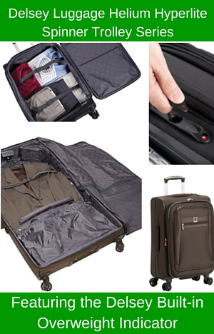 learn about Delsey Luggage Helium Hyperlite Series with the built-in overweight indicator system