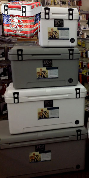 K2 Summit Coolers come in many sizes and can easily be customized