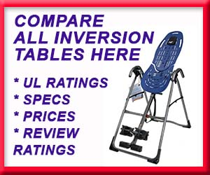 Find inversion table reviews and compare all reviews on one page